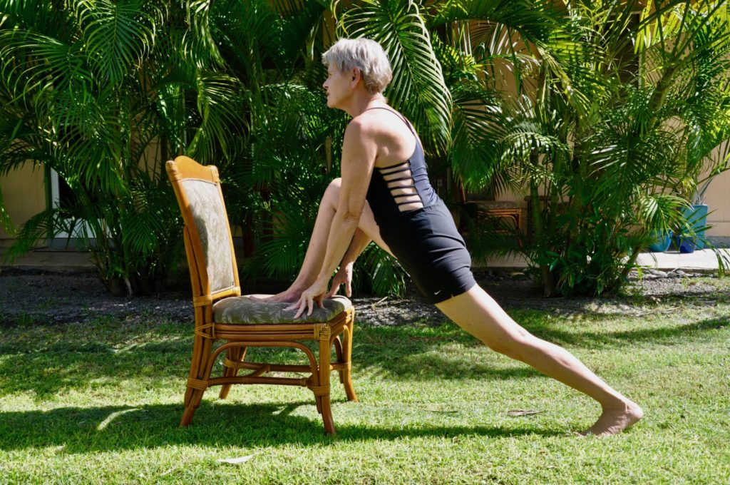 Lunge on a chair