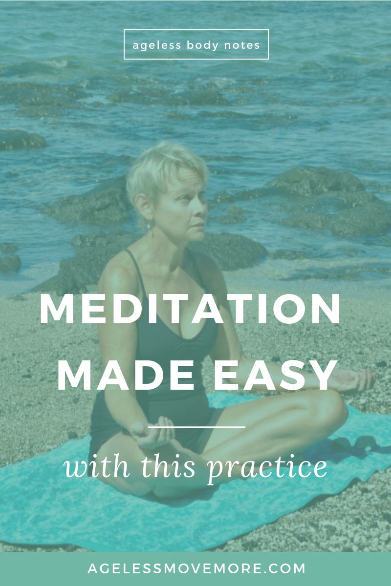 Are you new to meditation? Do you keep hearing how meditation can bring inner peace but aren't quite sure how to start? Try this meditation for beginners practice. Click through to read more on the blog! #meditation #practiceselflove #aginggracefully #selflove